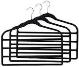 Premium New Non - Slip Slim Velvet Hanger Hang 5 Garments Heavy Duty Lightweight Multi Layer Clothes Drying Hanger - 8 Units