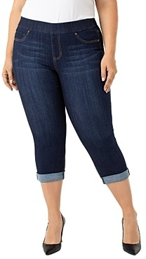 Liverpool Los Angeles Plus Liverpool Plus Cropped Skinny Jeans in Griffith Super Dark