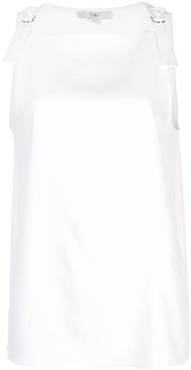 Tibi buckle strap tank top