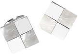 Jan Leslie Checkered Square Cufflinks