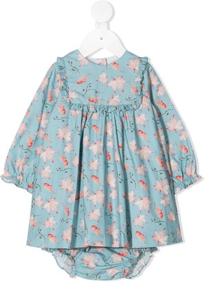 Marie Chantal Fenella leaf-print dress