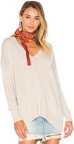Autumn Cashmere Side Slit V Neck Sweater