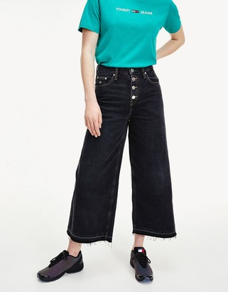 Tommy Jeans mid rise wide leg in wash black