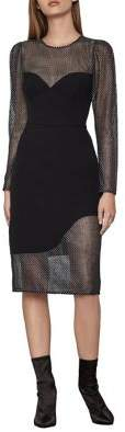 BCBGMAXAZRIA Eve Long-Sleeve Chain Mail Dress