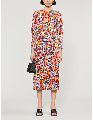 NEVER FULLY DRESSED Dakota floral-print crepe midi dress