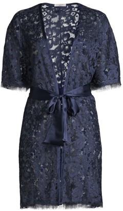 Dahlia Lace Silk Kimono