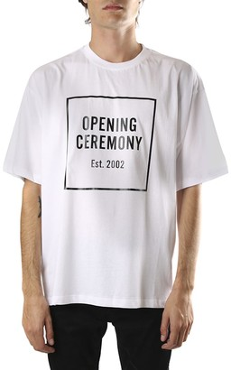 Opening Ceremony White Cotton T-shirt With Logo Print