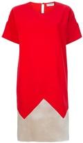 Vionnet short sleeves bicolour dress