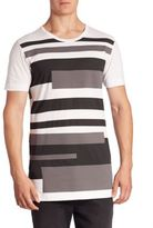 Diesel Black Gold Stripe Crewneck Tee