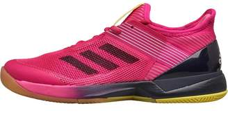 adidas Womens Adizero Ubersonic 3.0 Tennis Shoes Shock Pink/Legend Ink/Footwear White