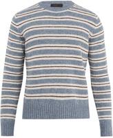 Prada Crew-neck striped wool sweater