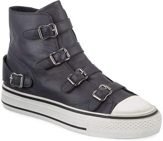 Ash Virgin Leather Buckle Sneakers