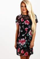 Pink Boutique Teasing Multi Floral Mesh Layer Dress