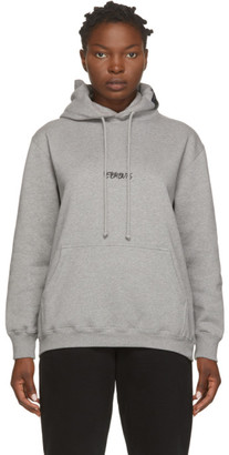 Vetements Grey Written Logo Hoodie
