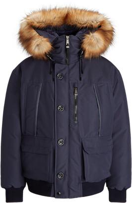 Ralph Lauren Faux-Fur Water-Repellent Down Jacket