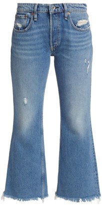 Rag & Bone Rosa Mid-Rise Crop Flare Jeans
