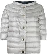 Herno high neck three-quarters jacket - women - Feather Down/Polyamide - 42