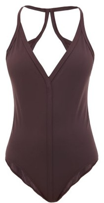 Rick Owens Backless Jersey Swimsuit - Womens - Burgundy