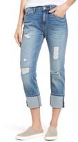 Mavi Jeans Women's Brenda Distressed Roll Cuff Boyfriend Jeans