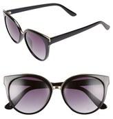 BP Women's 55Mm Cat Eye Sunglasses - Black/ Gold