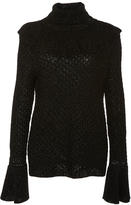Co Shimmer Ruffle Sweater