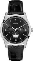 GUESS Black and Silver-Tone Sleek Diamond Watch