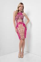 Terani Couture 1621C1267 Bejeweled Halter Cocktail Dress