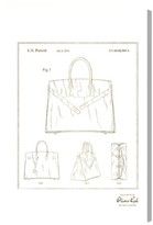 Oliver Gal Birkin Handbag Blueprint Canvas Wall Art