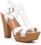 GB Block-Out T-Strap Leather Platform Sandals