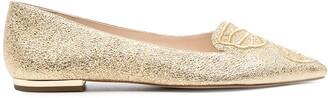 Sophia Webster Wing Detail Shimmer Ballerinas