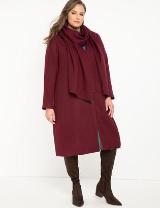 ELOQUII Coat with Scarf