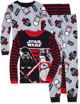 LICENSED PROPERTIES Boys 4-pc. Long Sleeve Star Wars Kids Pajama Set-Big Kid