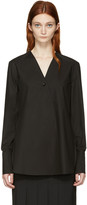 Lemaire Black Wrapover Shirt