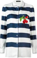 Dolce & Gabbana striped pyjama shirt - women - Silk/Polyamide/Polyester/Viscose - 42