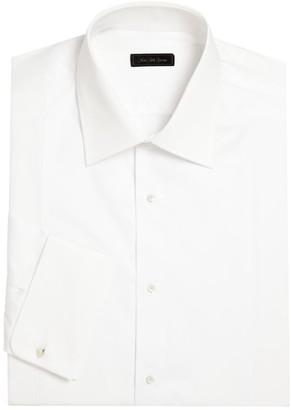 Saks Fifth Avenue COLLECTION Stud Set Cotton Tuxedo Shirt