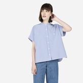 Everlane The Striped Cotton Poplin Square Shirt