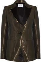 Pallas Metallic Crepe Tuxedo Blazer - Bronze