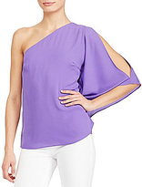Lauren Ralph Lauren Georgette One-Shoulder Top