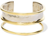 Anndra Neen Hammered Gold-plated Cuff - one size