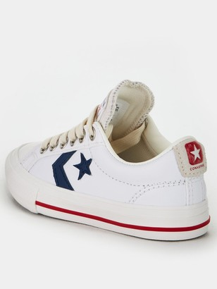 Converse Star Player Ev Ox Junior Trainers - White/Navy/Red