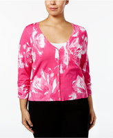 INC International Concepts Plus Size Printed Cardigan, Only at Macy's