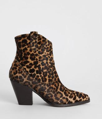 AllSaints Rolene Leopard Boot