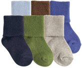 "Luvable Friends Baby Boys' ""Texture Cuff"" 6-Pack Socks"