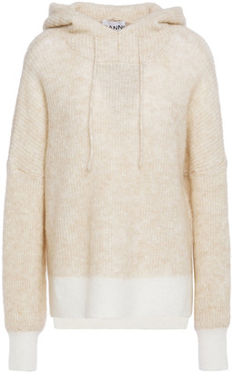 Ganni Ribbed Kniited Hooded Sweater