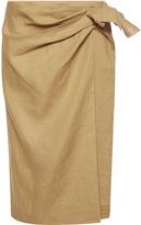 Alberta Ferretti Wraparound Linen Skirt