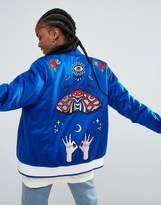 adidas Embellished Arts Embroidered Bomber Jacket