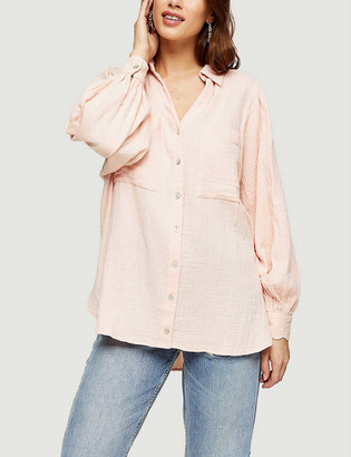 Topshop Casual loose-fit cotton shirt