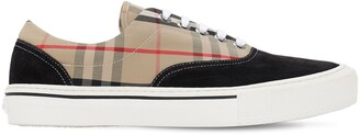 Burberry Wilson Checked Leather Sneakers
