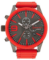 Diesel Rasp Chronograph & Date Silicone-Wrapped Bracelet Watch