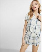 Express plaid ruffle pajama shorts